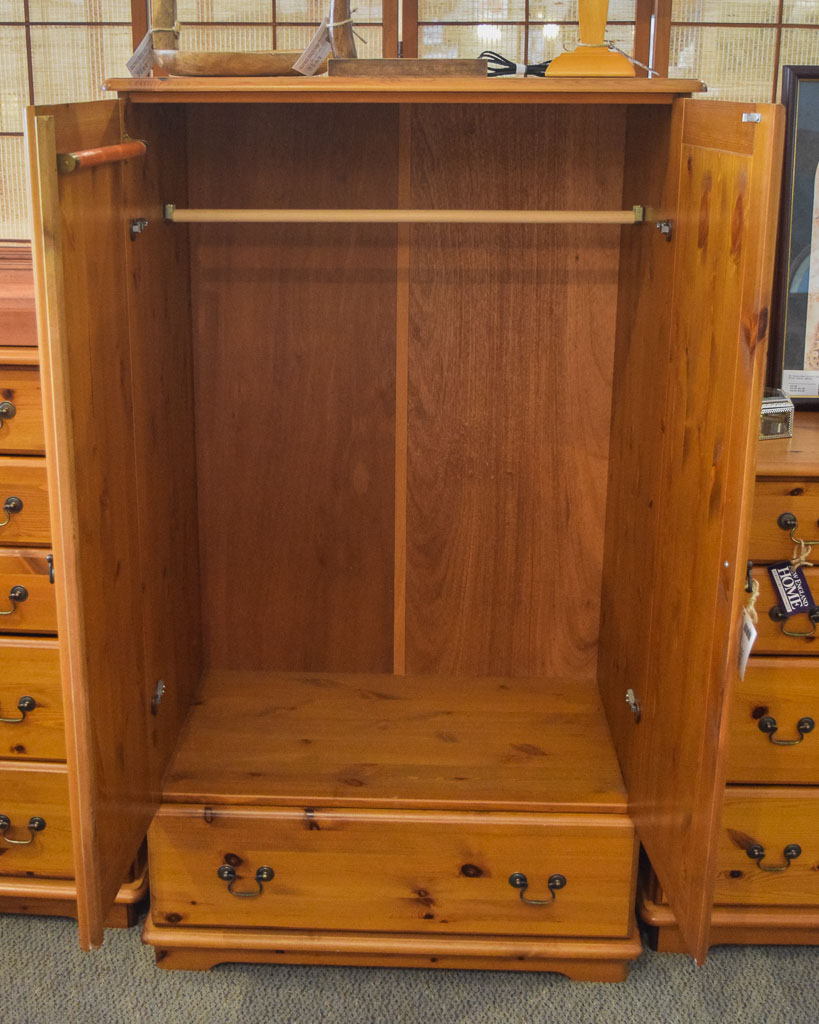 knotty pine dressing armoire new england home furniture consignment