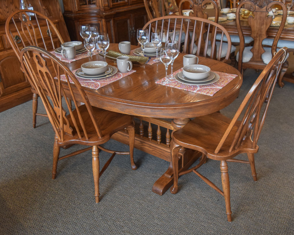 Temple stuart 6 pc dining set new england home furniture for Latest dining set