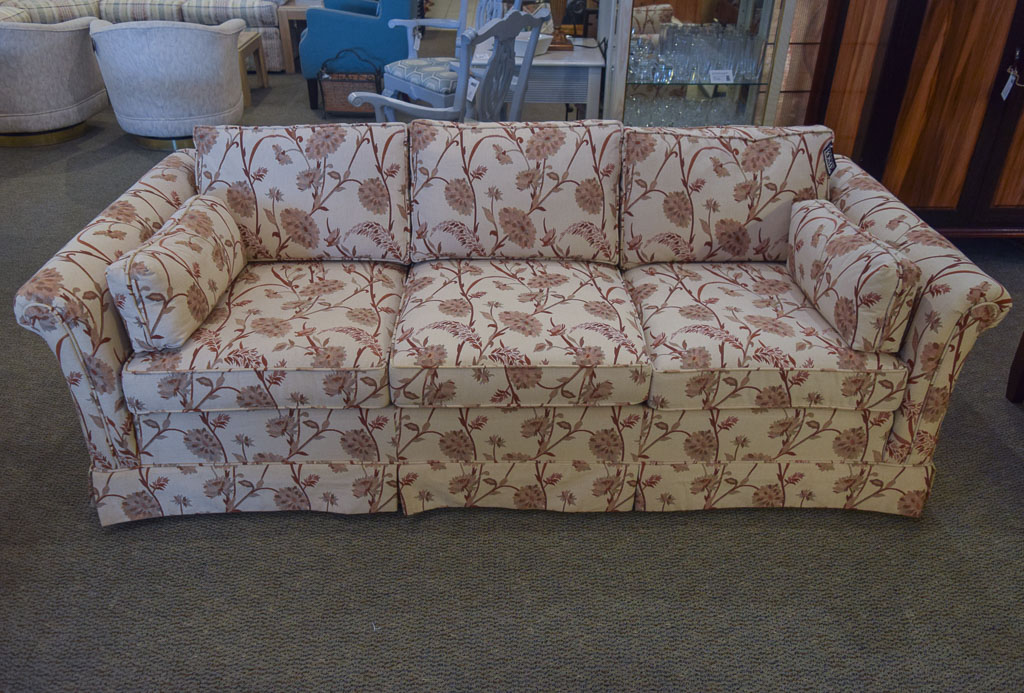 Attirant Ethan Allen Floral Sofa
