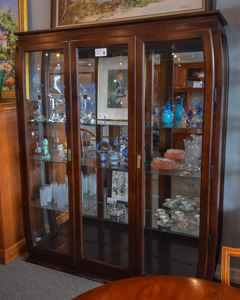 Glass Display Cabinet   New England Home Furniture Consignment