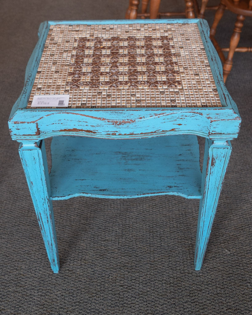 Shabby Chic Mosaic End Table