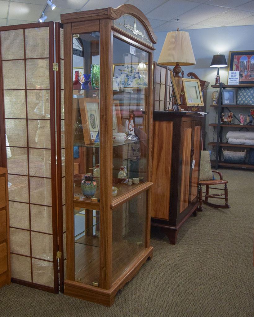 Oak Curio Cabinet New England Home Furniture Consignment