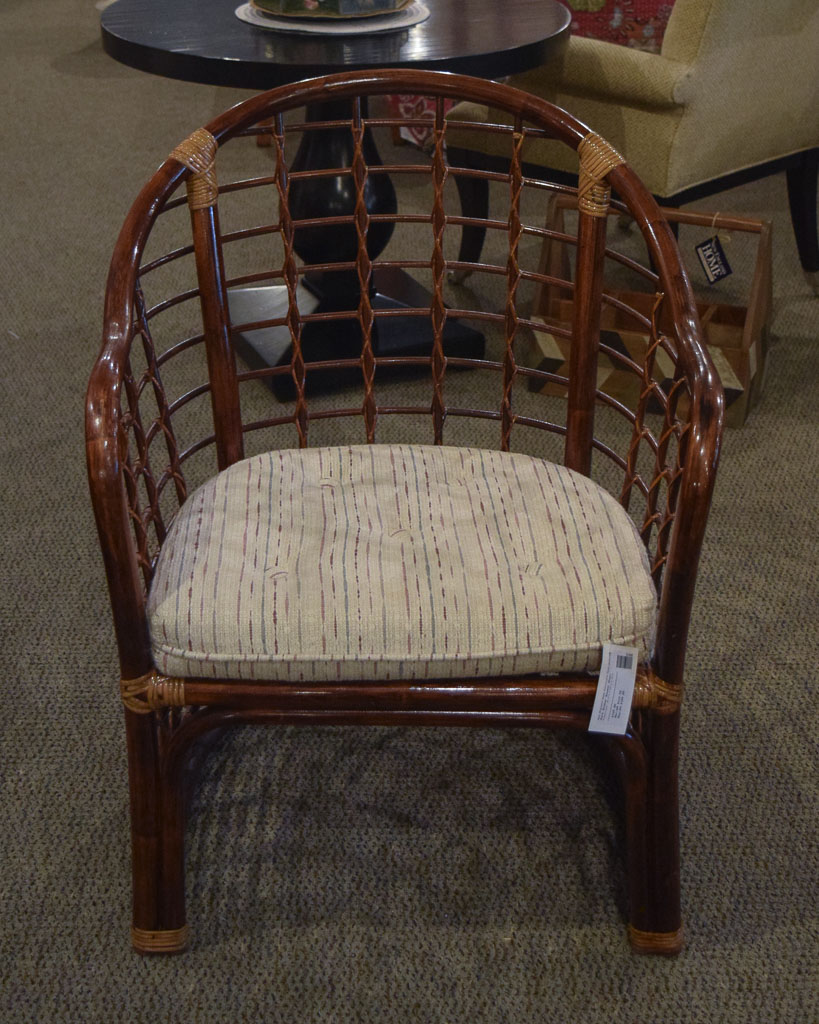 Dark Wicker Accent Chair New England Home Furniture