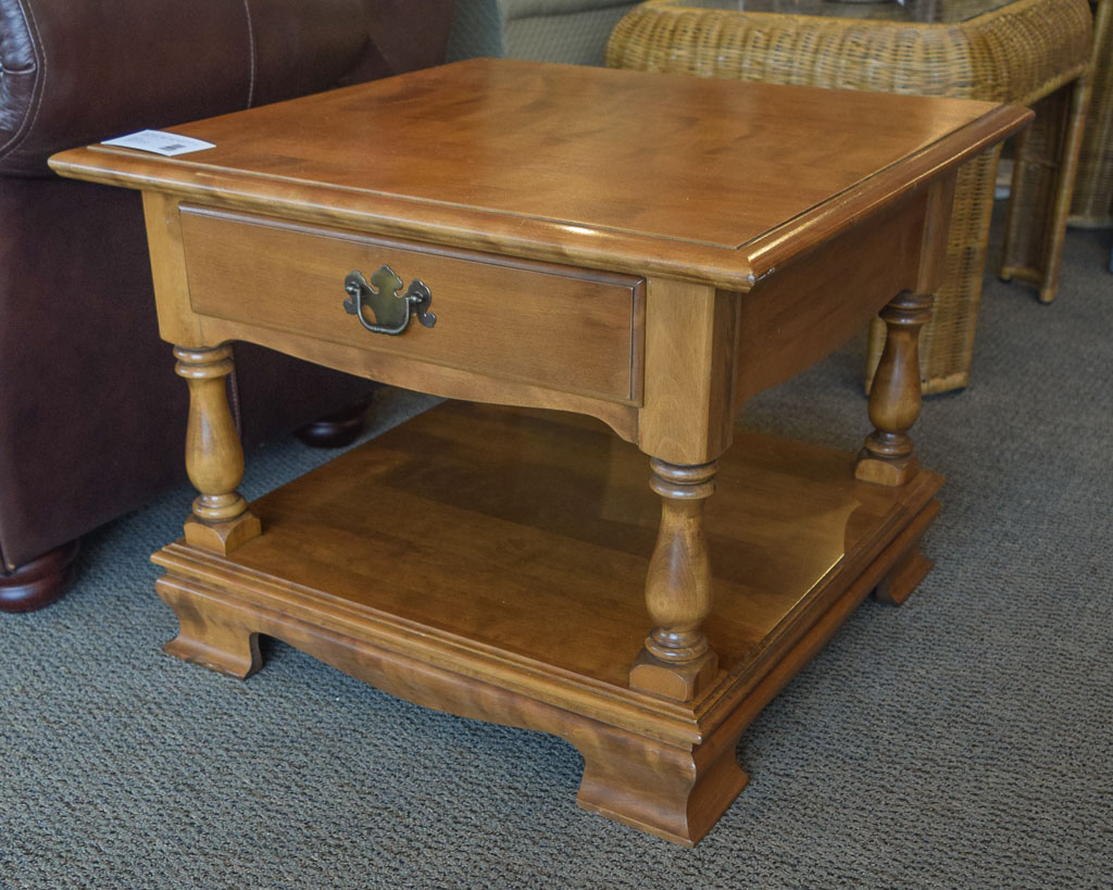 Ethan Allen Maple End Table