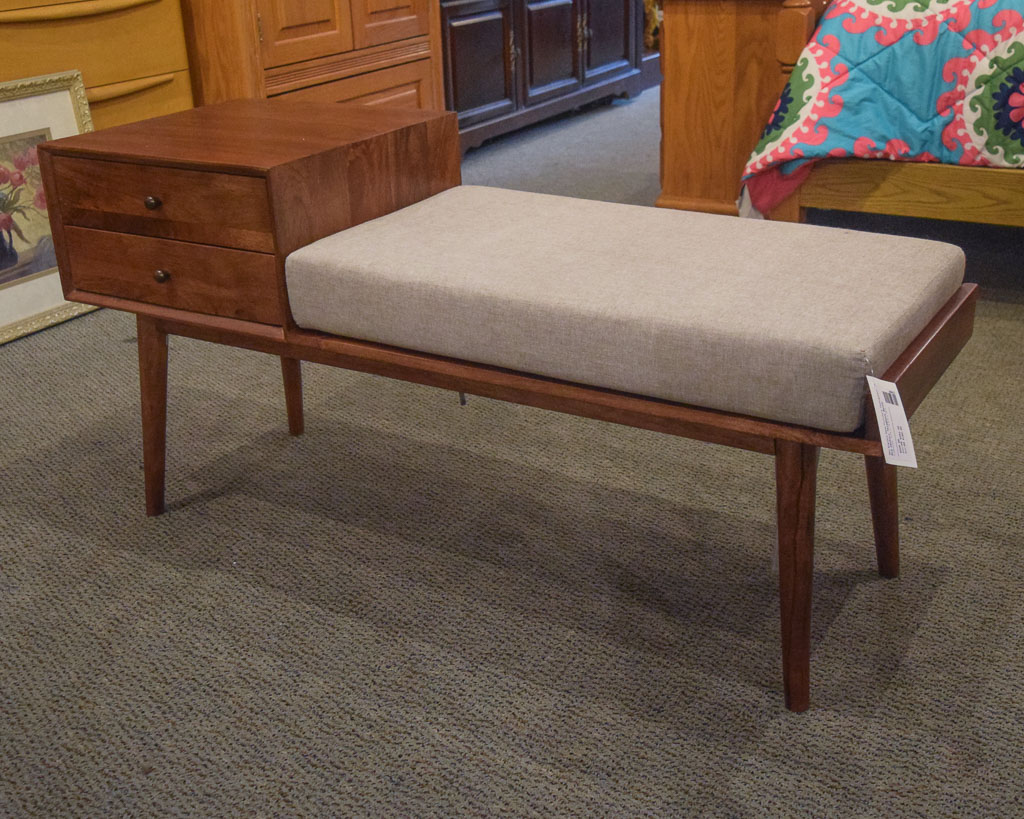 Mid Century Telephone Bench New England Home Furniture