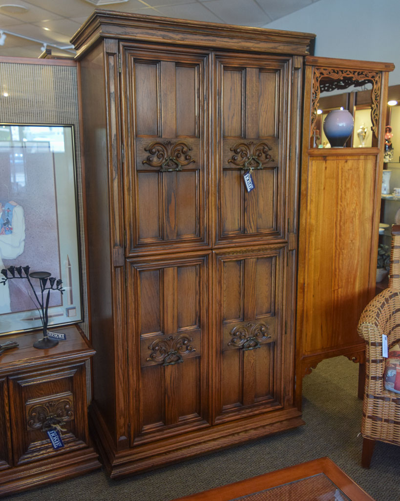 spanish dressing armoire new england home furniture consignment. Black Bedroom Furniture Sets. Home Design Ideas