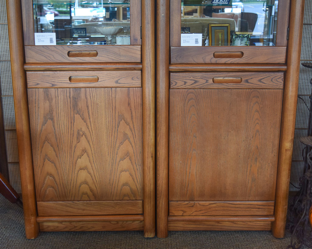 Oak Curio Cabinet | New England Home Furniture Consignment