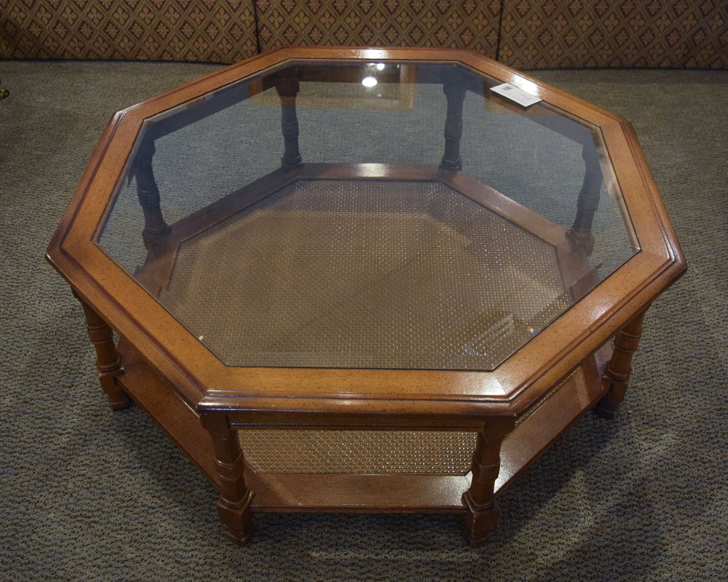 Octagon Gl Top Coffee Table