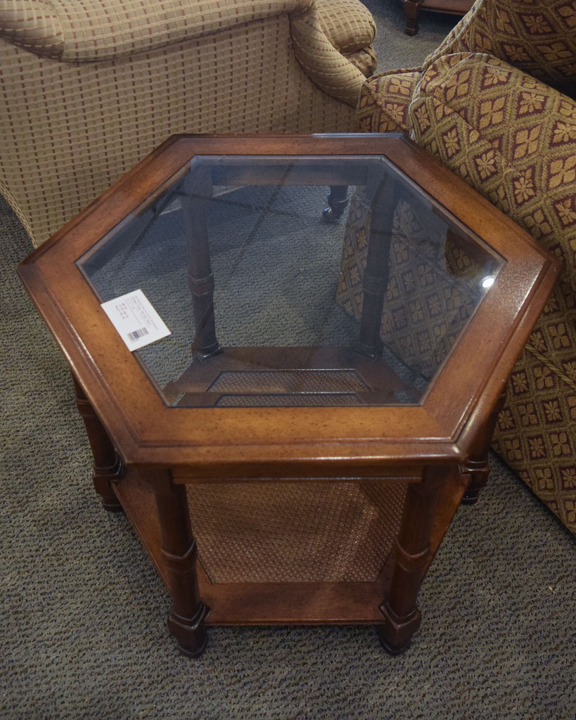 Octagon Glass Top End Table New England Home Furniture  : 27893 2 from www.newenglandhome.us size 819 x 1024 jpeg 254kB