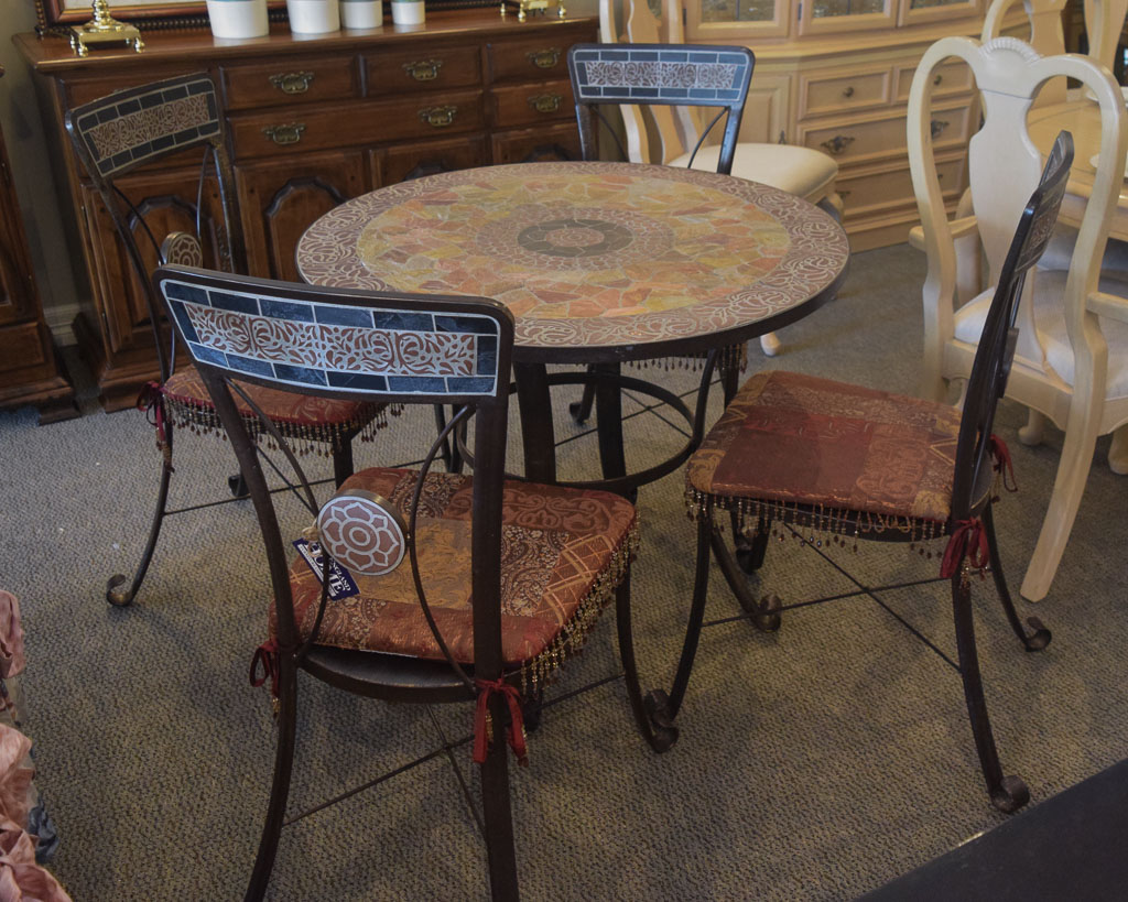 Tile Top Pier 1 Dining Set New England Home Furniture