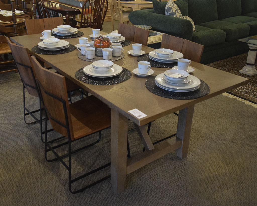 Rustic Greywash Dining Table