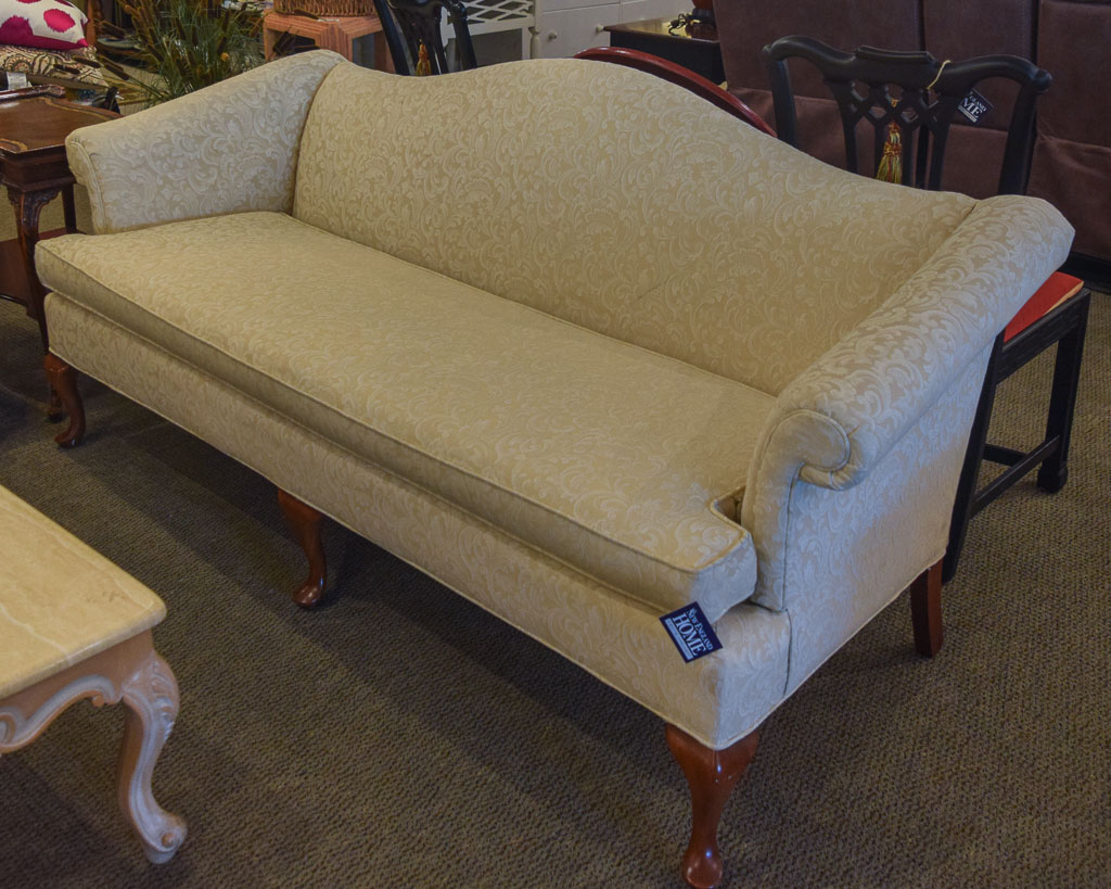 Ivory Damask Sofa New England Home Furniture Consignment
