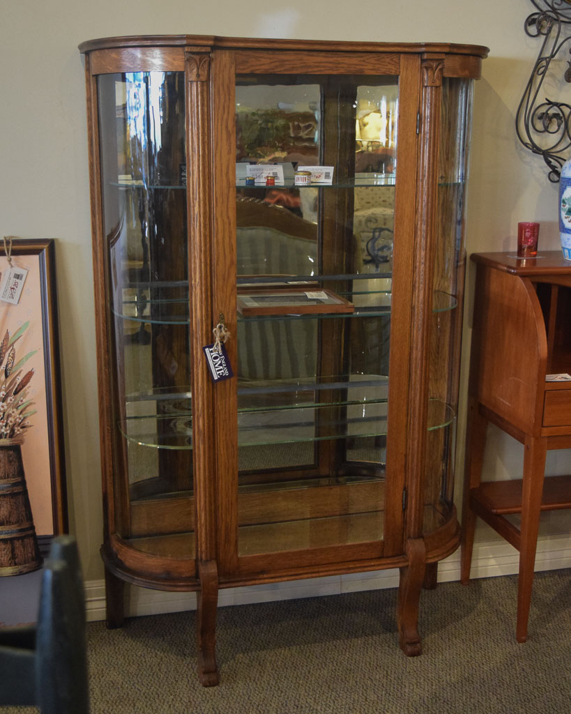 Vintage Oak China Cabinet - Vintage Oak China Cabinet New England Home Furniture Consignment