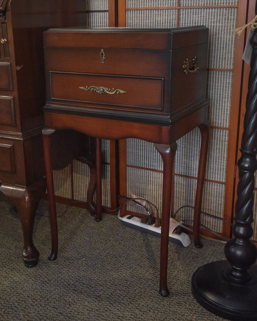 The Downing Street Executive Curio Desk: Ethan Allen Secretary Hutch