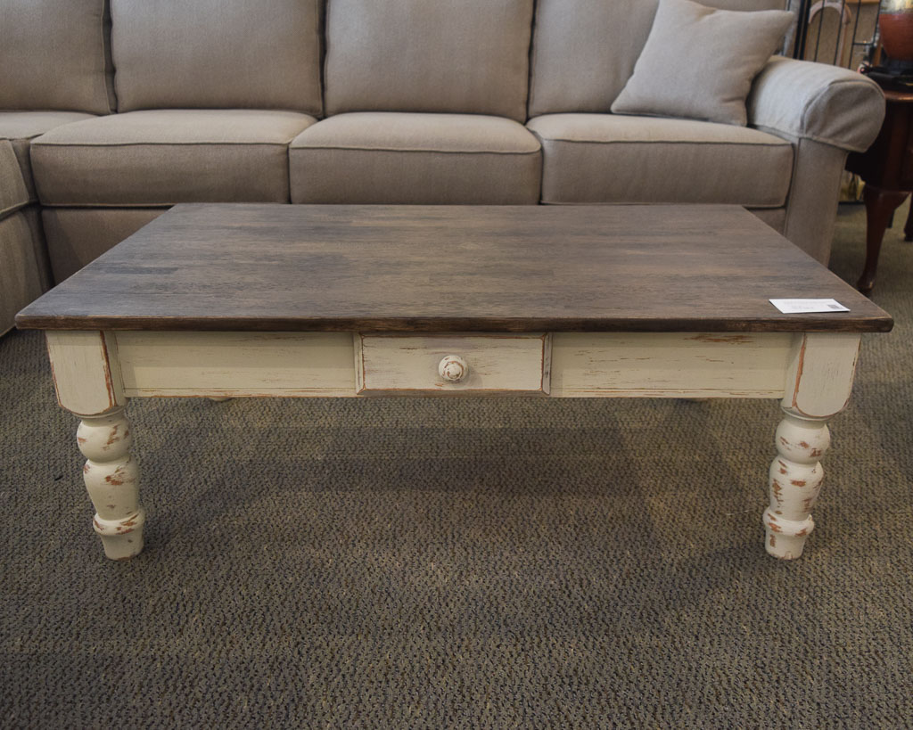 Custom two toned coffee table