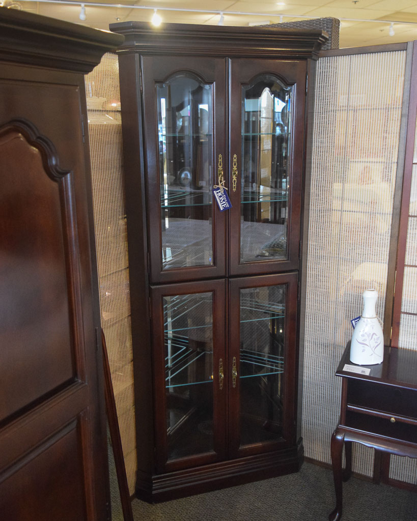 Jasper Corner Curio Cabinet