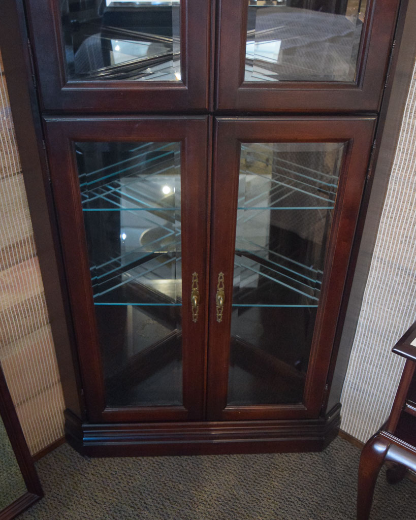Jasper Corner Curio Cabinet New England Home Furniture