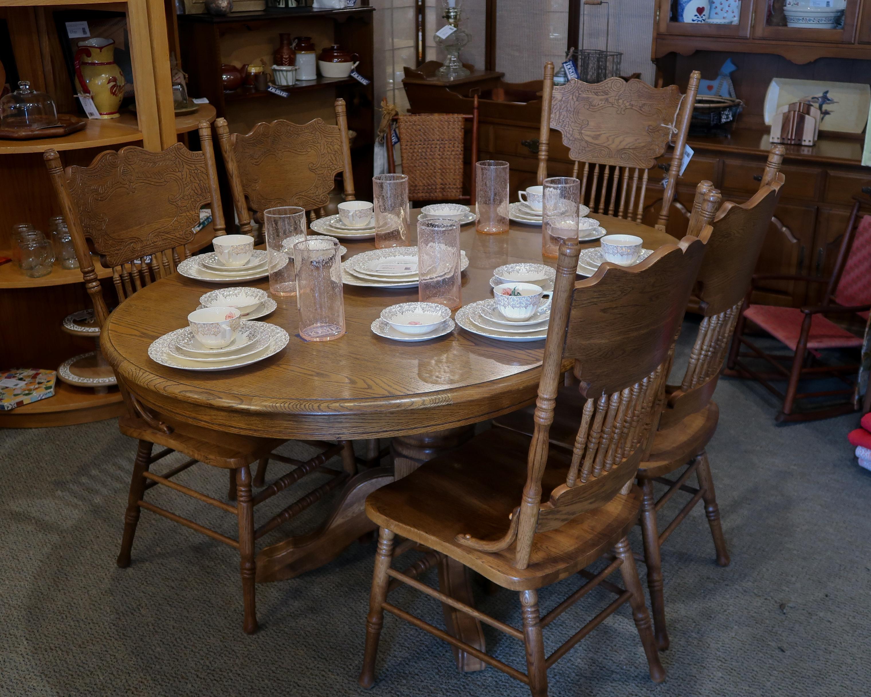 Oak 6 Pc Dining Set