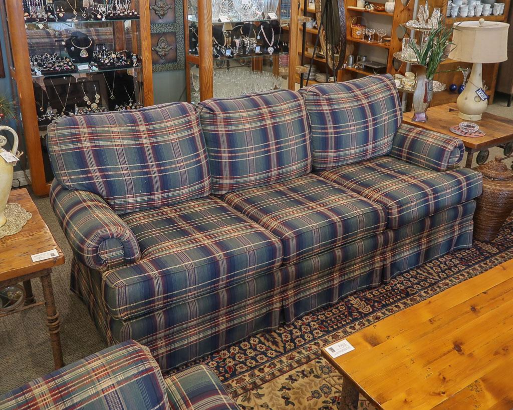 Huntington House Plaid Sofa New England Home Furniture Consignment